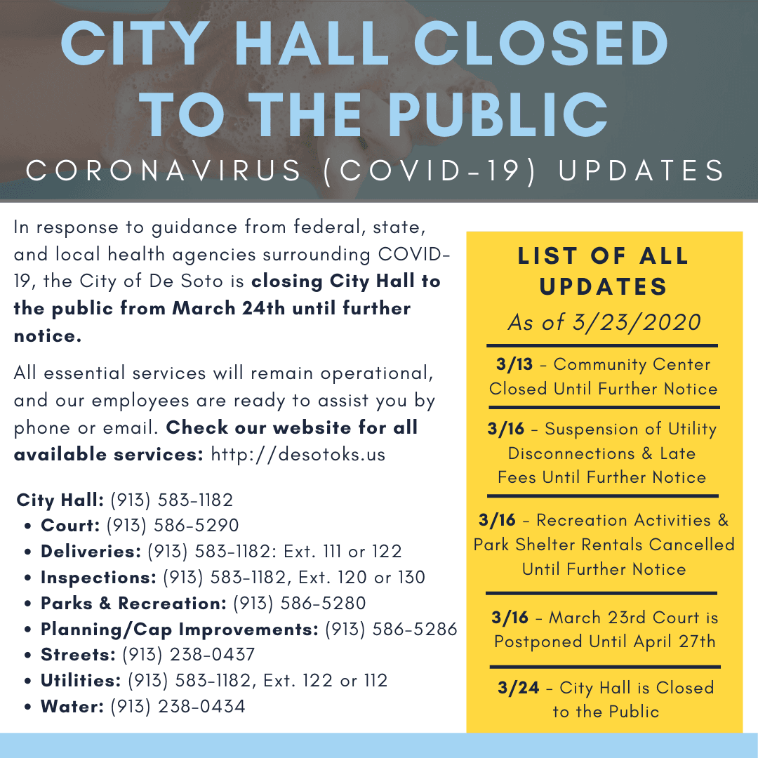 COVID-19 UPDATES - City Hall Closed-5