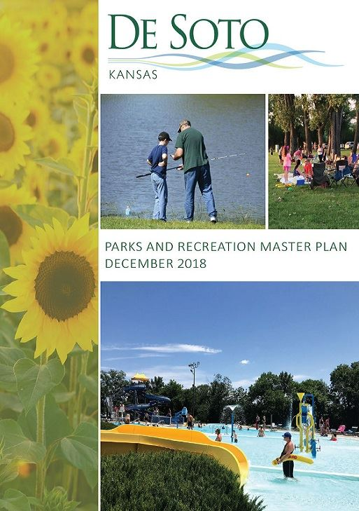 Cover of Park Master Plan showing images of recreation activities